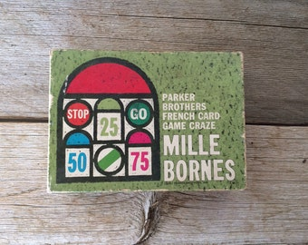 Vintage 1962 Mille Bornes Game, Highly Collectible, Rare