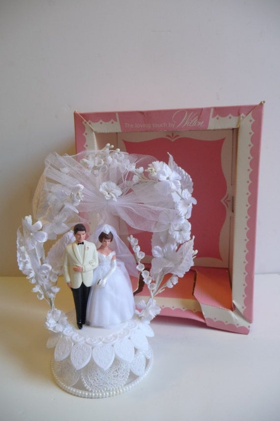 wedding cake toppers etsy vintage wedding cake topper wilton in box and groom 8824