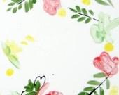 Floral Tile Trivet, 6x6 spring ceramic tile by Janelle Beaulieu