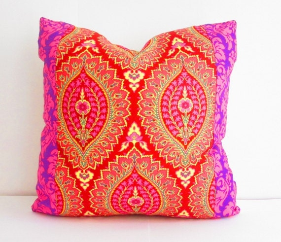 Purple and Pink Pillows Square Pillow Decorative Pillows