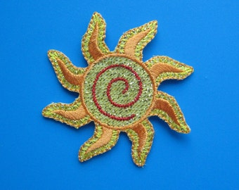 Iron-On embroidered Patch SUN symbol 2.3 nch