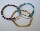 Dainty, Simple and Stylish Bracelet ... Your Choice ... Blue, Dark Brown or Tan ... now with a lower price