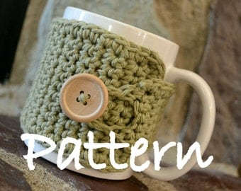 Instant Download - Coffee Mug Cozy Crochet Pattern - May sell finished product