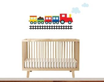 Train Baby Boy Wall Decal - Train Decal - Nursery Wall Decal - Train Wall Art