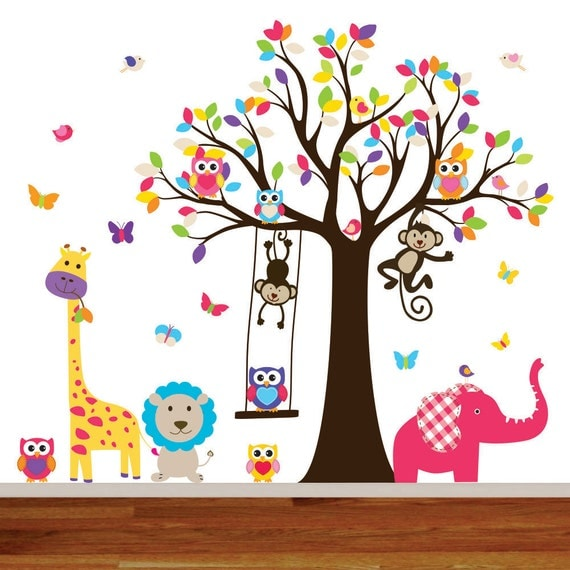 Nursery wall decal kids wall decal sticker vinyl wall decal for Stickers pared bebe