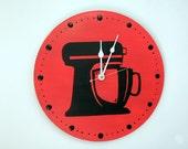 Cherry Red Clock Kitchen Aid decor