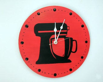 Kitchen Aid Red Wall Clock