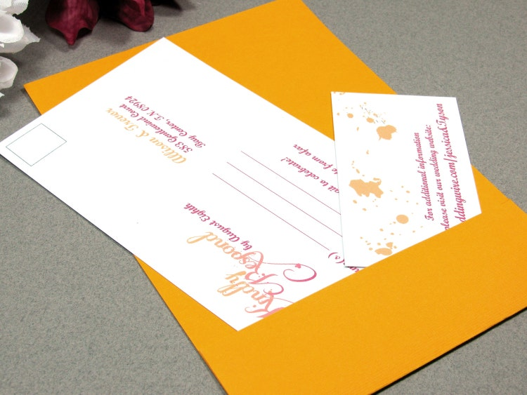 Ombre Wedding Invitation: Ombre Wedding Invitations Artistic Wedding By RunkPockDesigns