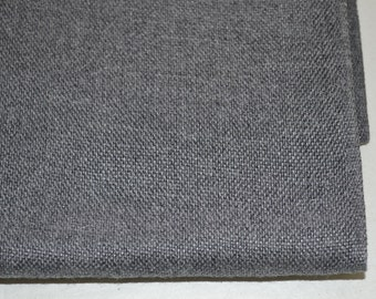 Vintage med weight woven Grey Cotton Fabric