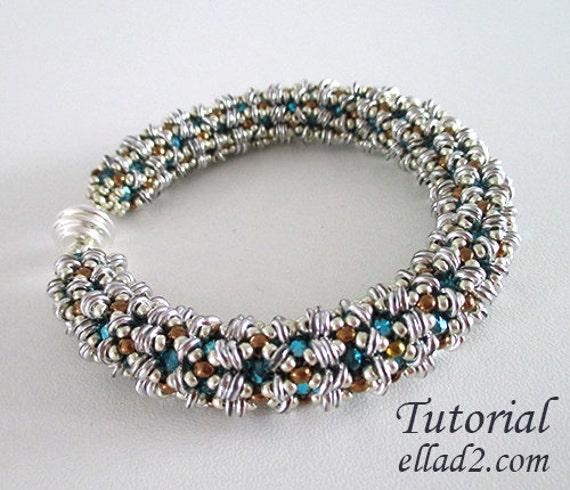 Tutorial O-Bracelet - Beading pattern, Instant download, PDF, Jewelry Tutorial by Ellad2