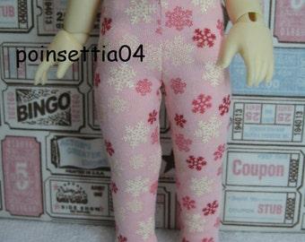 Super Dollfie Yo SD Littlefee Pink Snowflake Leggings