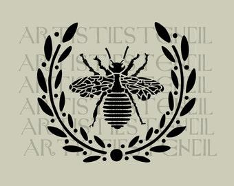 STENCIL Queen Bee Wreath No 3 10x8.8