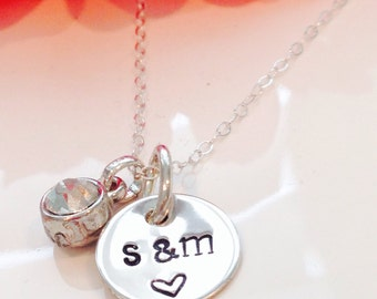 Personalized Couples initial Necklace