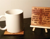 Coffee with Scripture coaster Ephesians 2:8-9