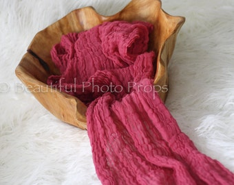 Hot Pink Cheesecloth Baby Wrap Cheese Cloth Newborn Photography