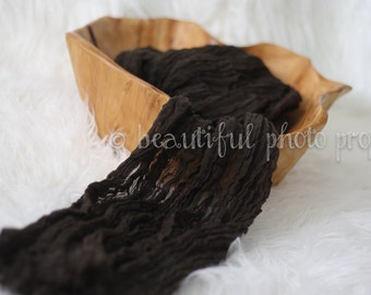 Dark Brown Chocolate Cheesecloth Baby Wrap Cheese Cloth Newborn Photography