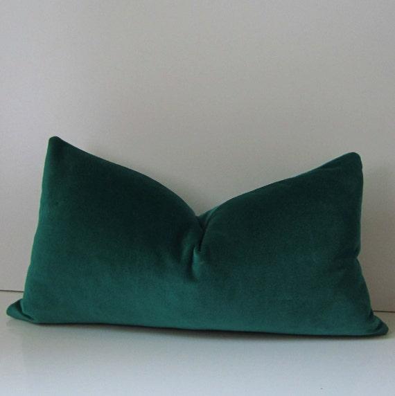 Emerald Green Velvet Pillow Decorative Pillow Cover 12 X