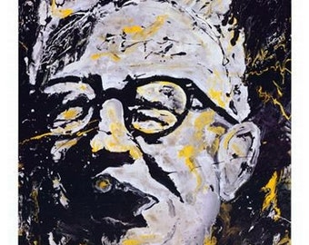 Pittsburgh Steelers, The Chief Art Rooney Print by Pittsburgh Artist Johno