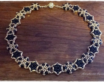 Tutorial pattern diy: Cremona necklace, how to make a necklace step by step pdf file.