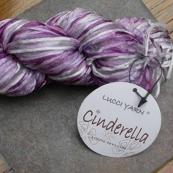 Nylon Knitting Ribbon : Ribbon yarn lucci cinderella purple and beige by susaneknits