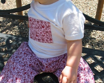 Pink and red roses...shirt and pant set 12m