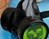 Black Cyber Mask Cyber Goth Respirator Gas Mask  SKULL
