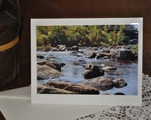 Rocky Waters   - Fine Art Fall Photo Greeting Card