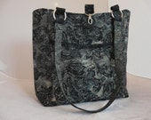 Tote Full of Pockets, Too! .... Rose Brocade