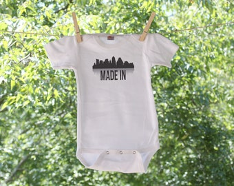Austin - Made In (can be made with just the skyline and no text) Infant Bodysuit