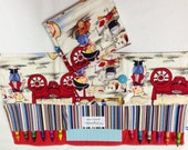 Cowboys Crayon Tote in a colorful print complete with 12 crayons and a paper pad