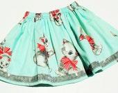 Vintage Fabric Kitten Skirt, Size 4T/5T