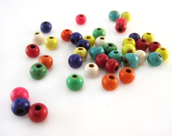 Dyed Magnesite 4mm Rounds