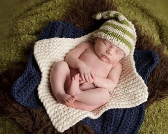 Baby Blanket - Newborn Photo Prop - Cream