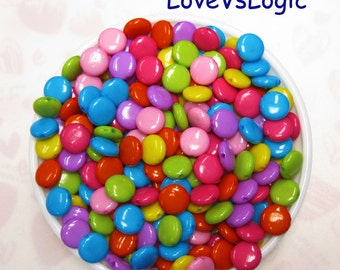 Wholesale.180 Chocolate Bean Acrylic Beads. Mix Colors