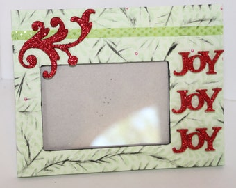 Christmas Joy Picture Frame 9 x 7  inches