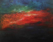 Lake Lights Large Abstract Artwork