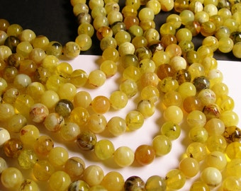 Yellow Opal  10mm round - A quality - 40  beads per strand -  1 full strand