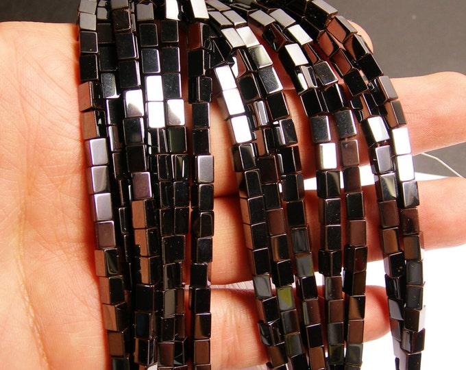 Hematite tube  4x6mm - full strand - 68 beads - AA quality - CHG34
