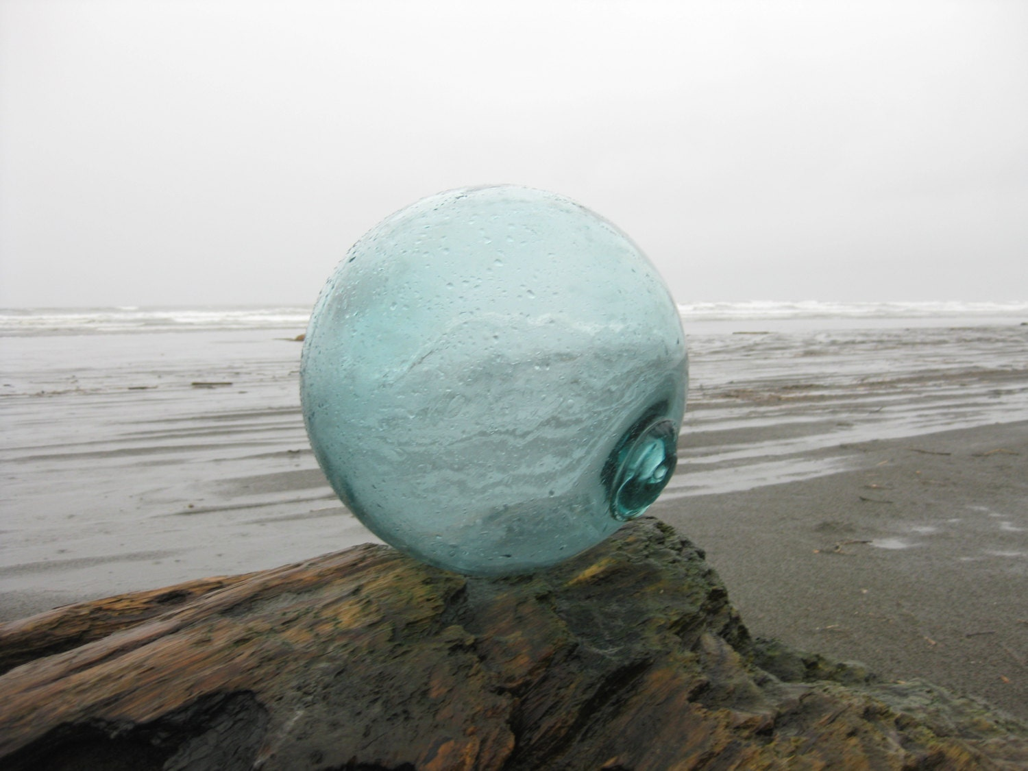 12 japanese glass fishing float light teal by glassfloatjunkie for Japanese fishing floats