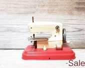 SALE 40% off | Vintage French Toy Sewing Machine, Toy collectible, Nursery decor