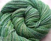 Hand Spun Glas Variegate Falkland Wool 240 yards