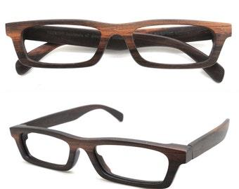 LOVE-WOOD handmade ebony TAKEMOTO black & brown eyeglasses