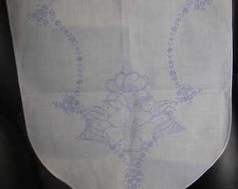 Vintage Table Runner for Embroidery Stamped Flowers