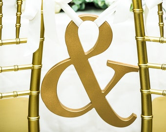 Ampersand Wedding Signs Wooden Letters in Wood for Save the Date or Portraits Photo Prop or Wall Chair Decor (Item - AMP120)
