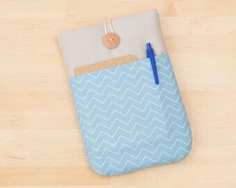 kindle Fire HDX 7 case / Kindle Paperwhite cover / Kindle fire HD 6 case / Nexus 7 case  / kobo glo case - mini chevron blue --