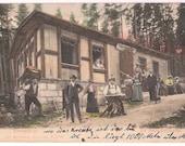 Antique German Postcard Czechoslovakia Family 1905 Riesengebirge Die Melzergrundbaude Czech Slovak Souvenir Travel Postcard