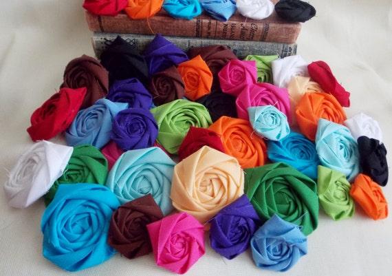 Fabric Flowers Bulk, Flowers for Crafts, Flowers Wholesale, Flower Rosettes, Headband Supplies, Hair Accessories, Flower Hair Clip
