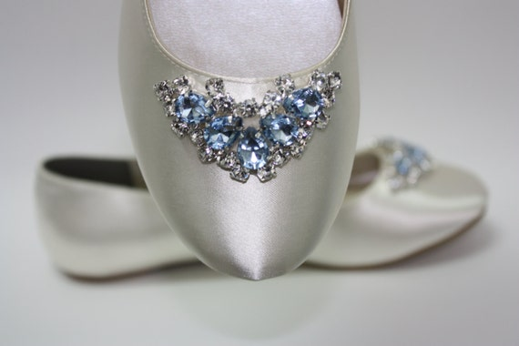 flats wedding flats blue crystals something blue shoes wedding