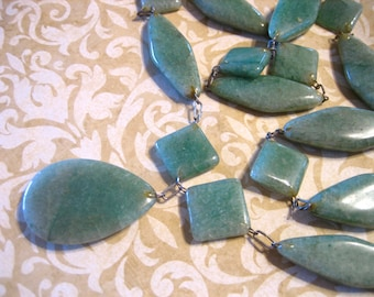 Vintage Green Onyx Stone Necklace