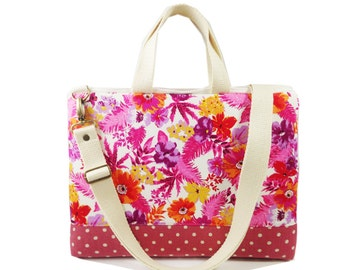 """SALE-13"""" Macbook or Laptop bag with handles and detachable shoulder strap-Ready to ship"""